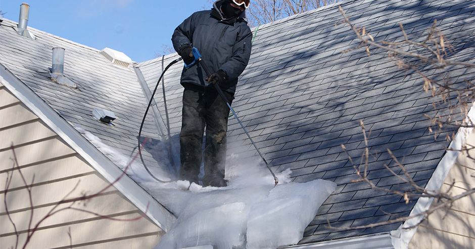 Our Arctic Steamer Ice Dam Solution Will Remove Dangerous Ice Dams From Your Roof
